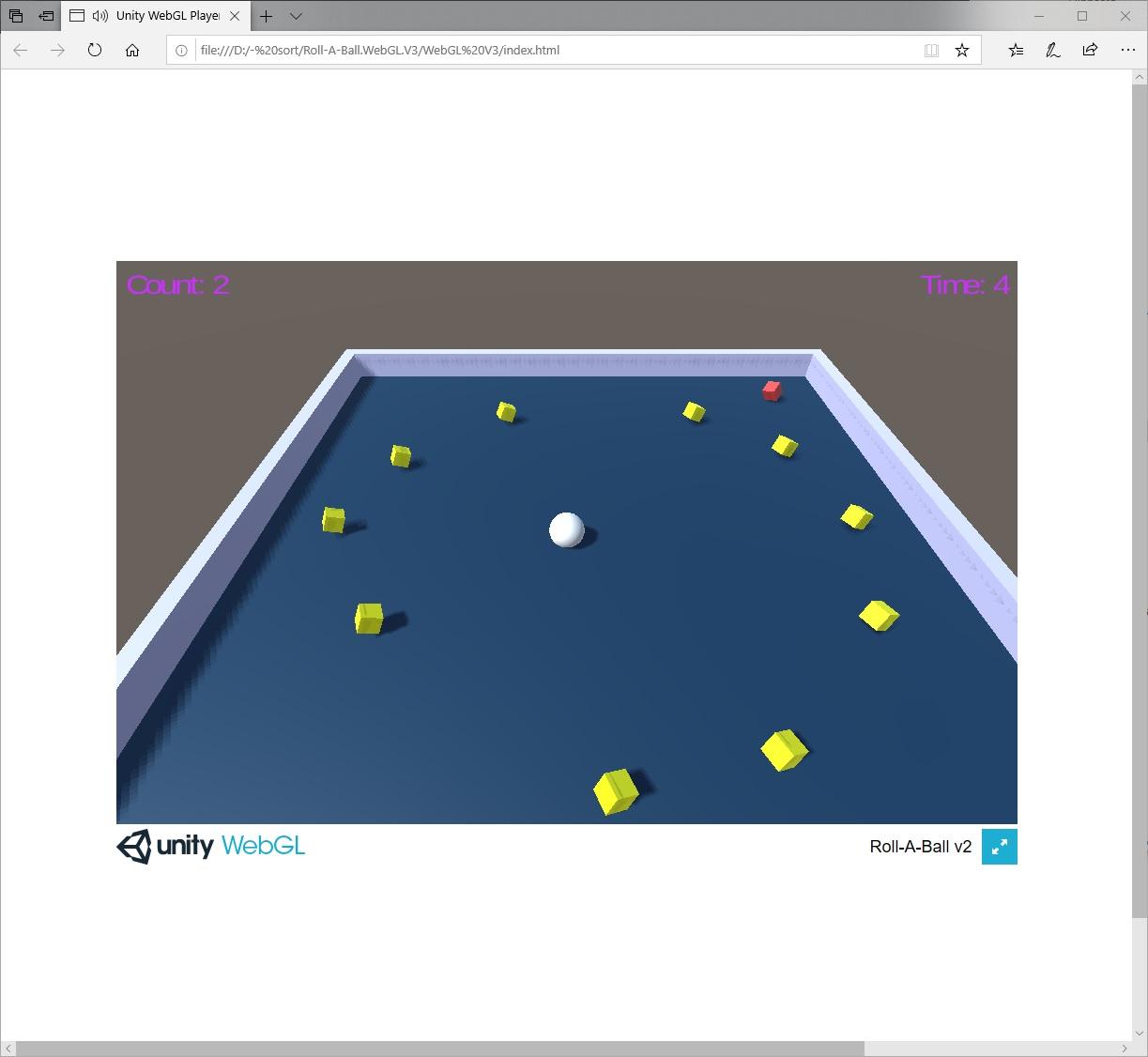 Roll-A-Ball HTML5