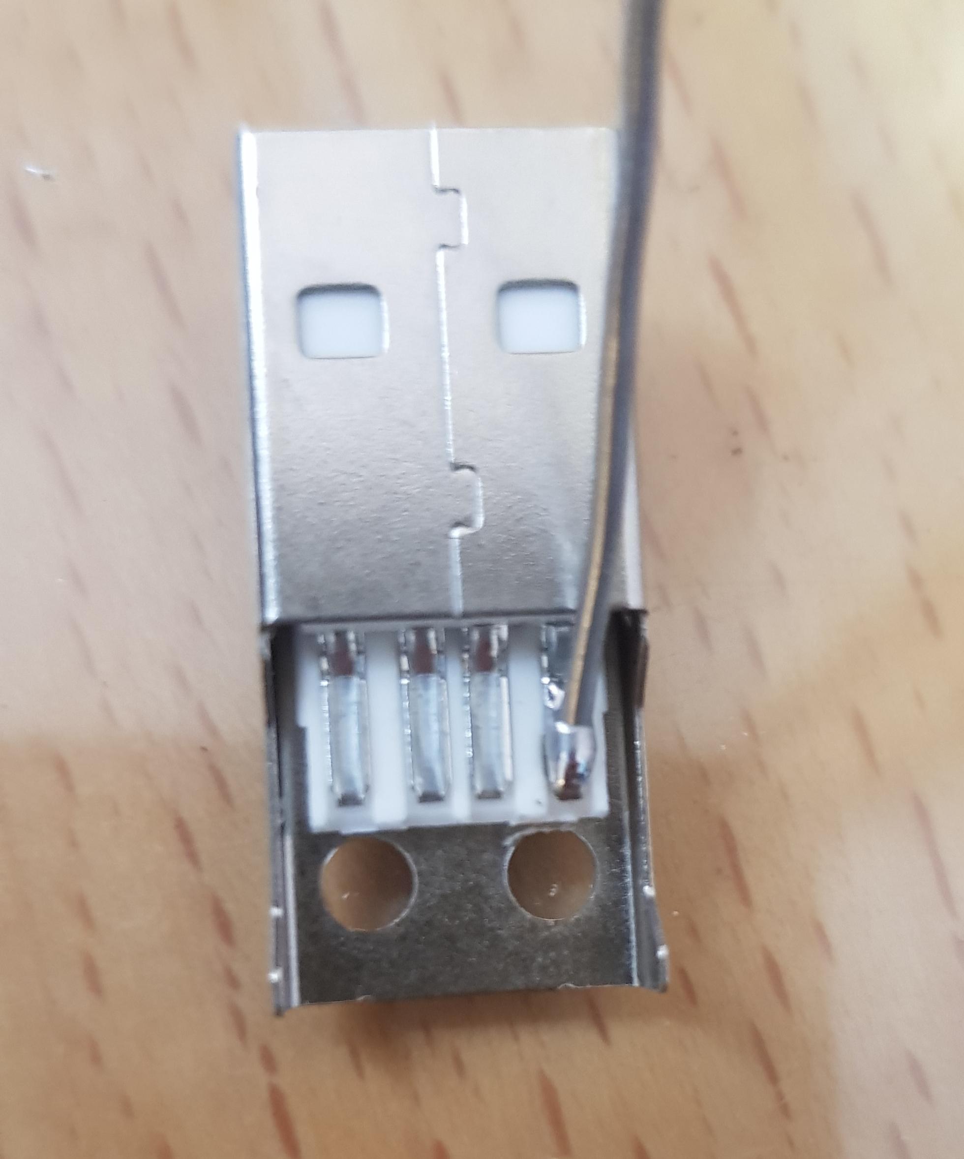 Tin USB connector
