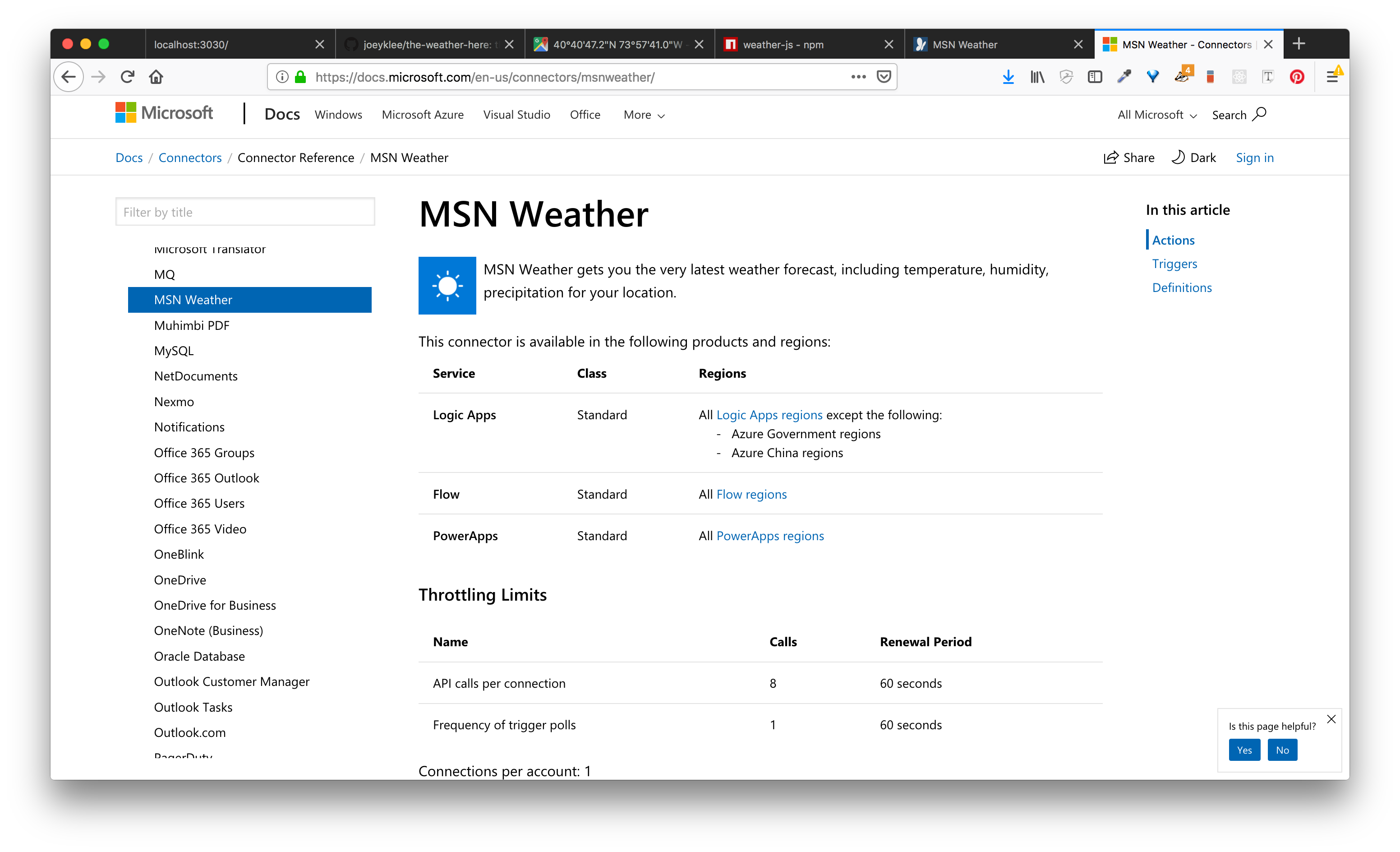 weather-js msn weather data