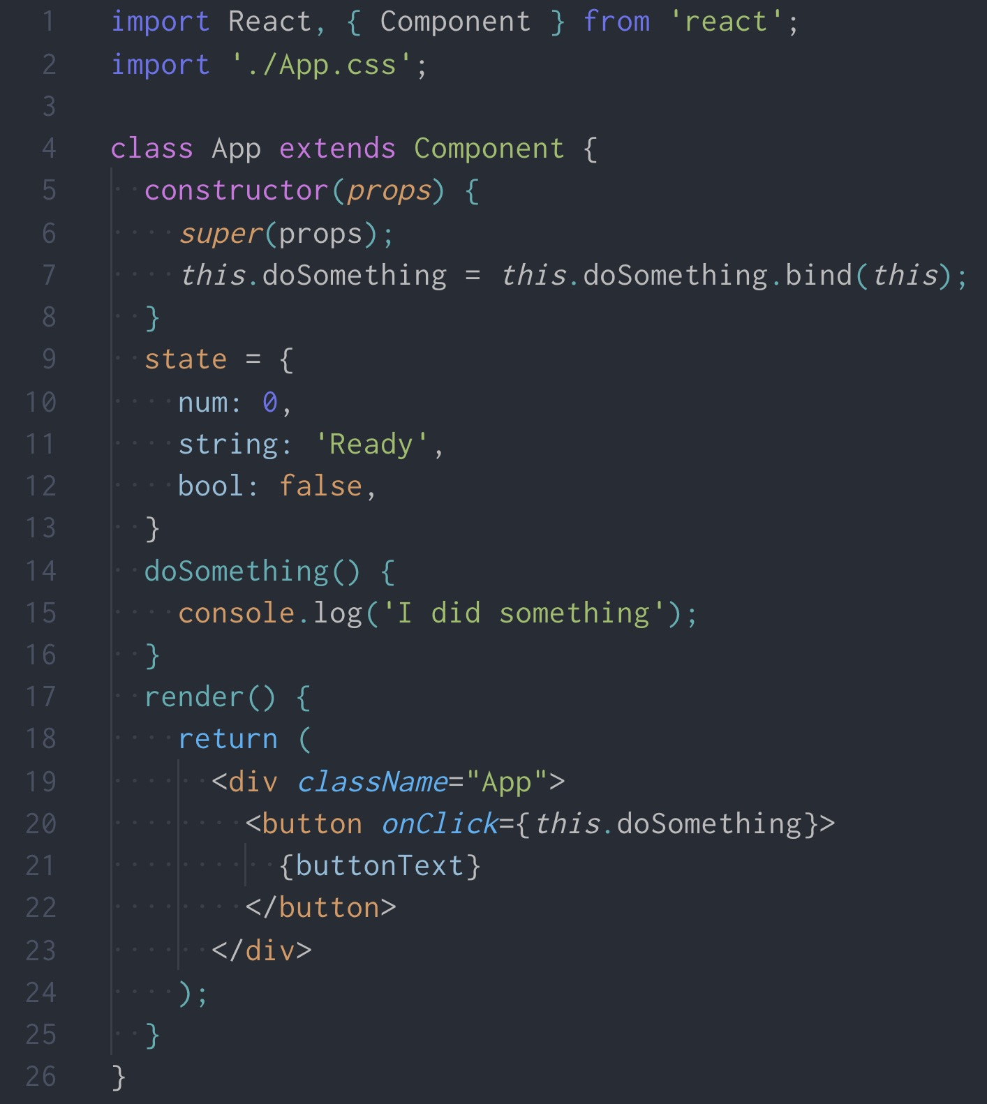 JSX Screenshot