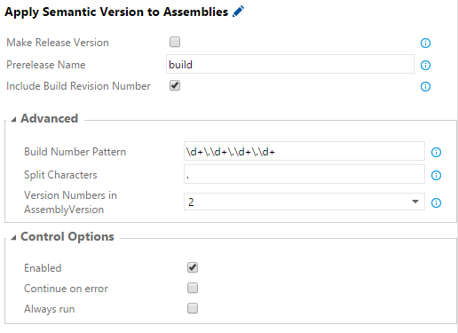 Apply Semantic Versioning to Assemblies User Interface