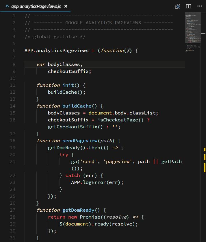 Screenshot of JavaScript in Contrast