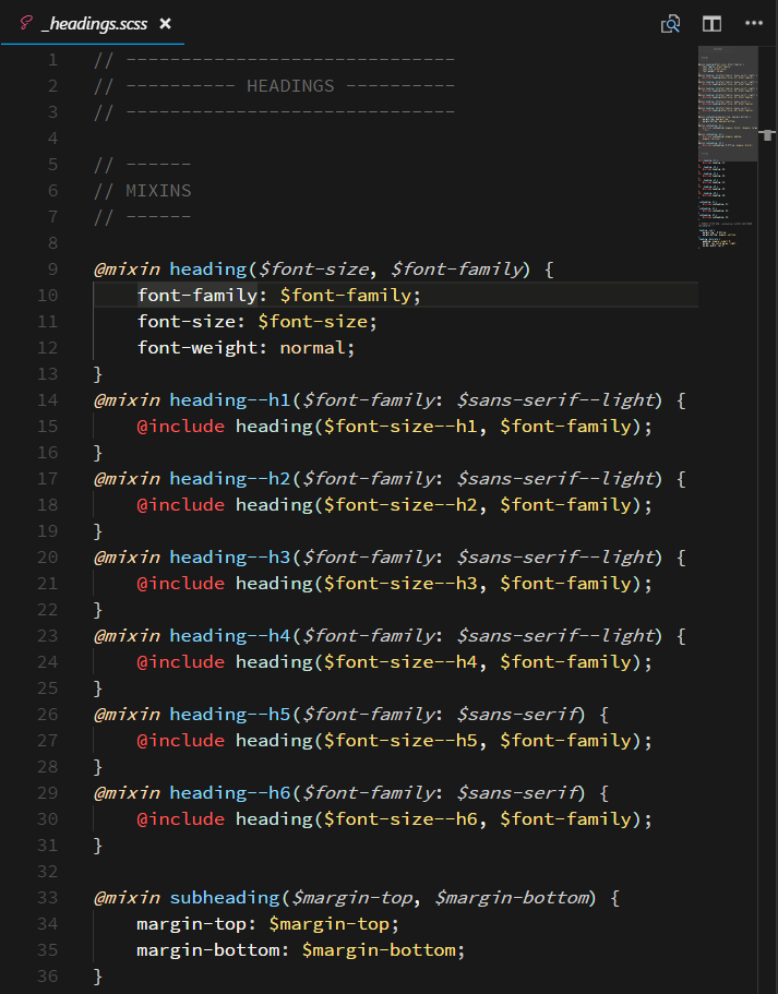 Screenshot of Sass in Contrast