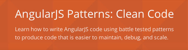 Angular Patterns: Clean Code