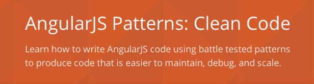 Angular Patterns: Clean Code