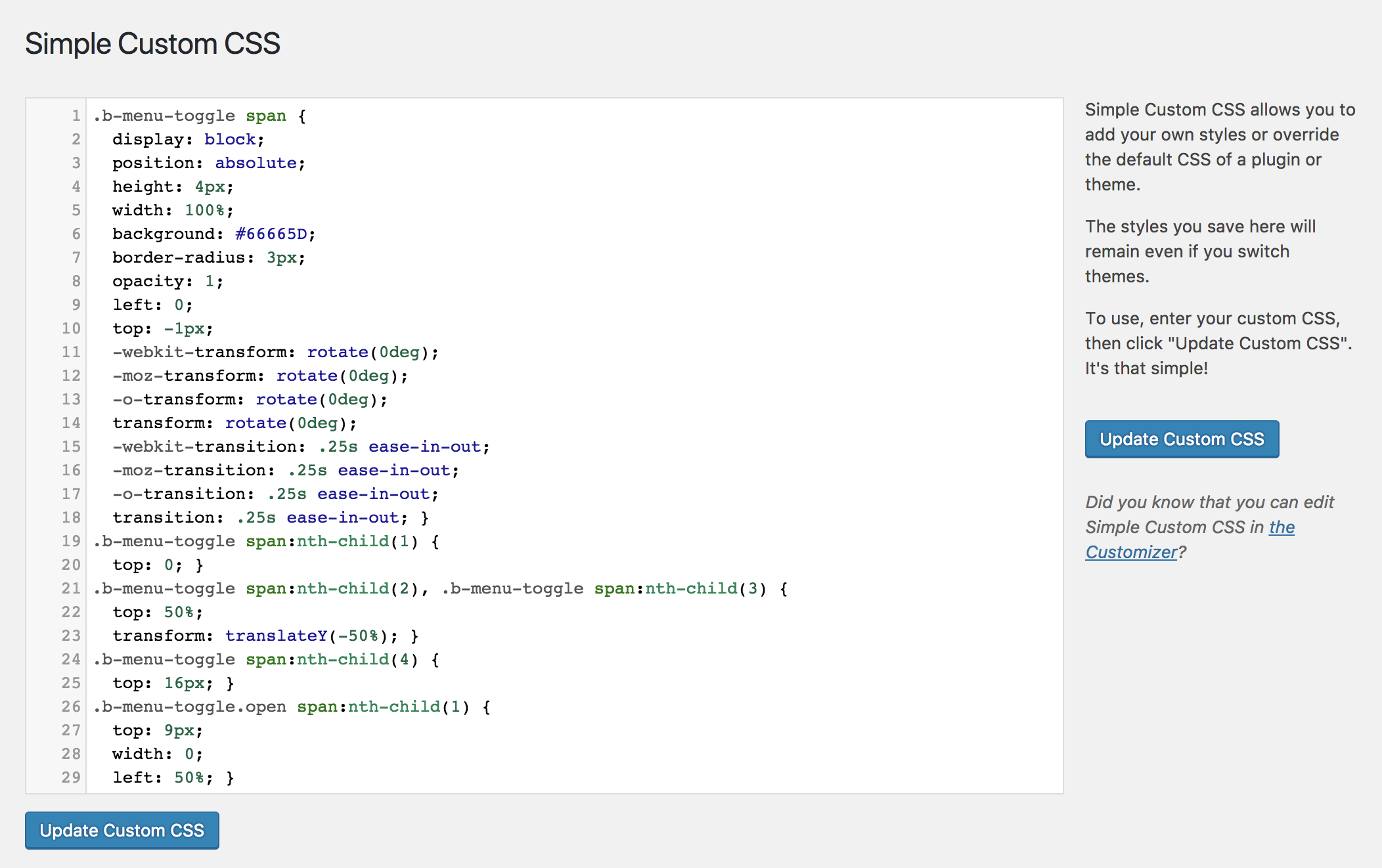 how to include css style in wordpress plugin