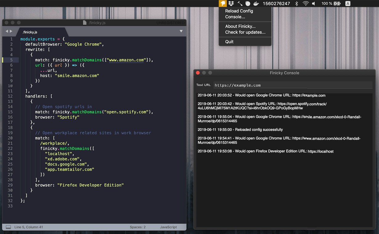 GitHub - johnste/finicky: A macOS app for customizing which browser