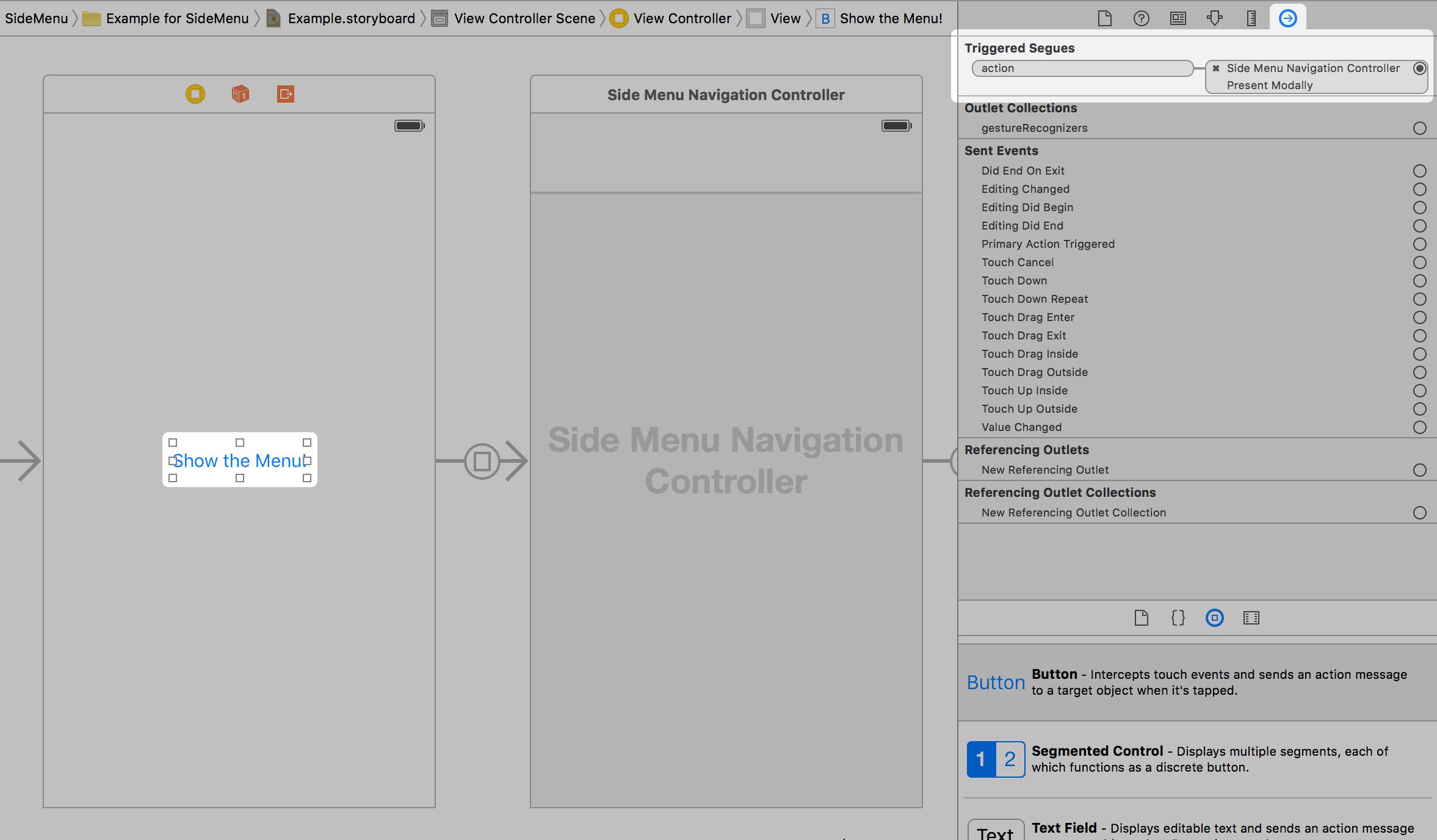 GitHub - jonkykong/SideMenu: Simple side/slide menu control
