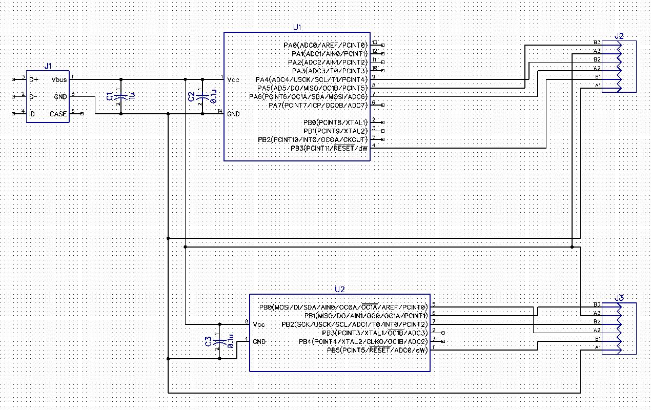 GitHub - jonmash/ATTiny-Widget: Just a simple board that has two ATTiny