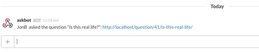 Askbot Slack Hook