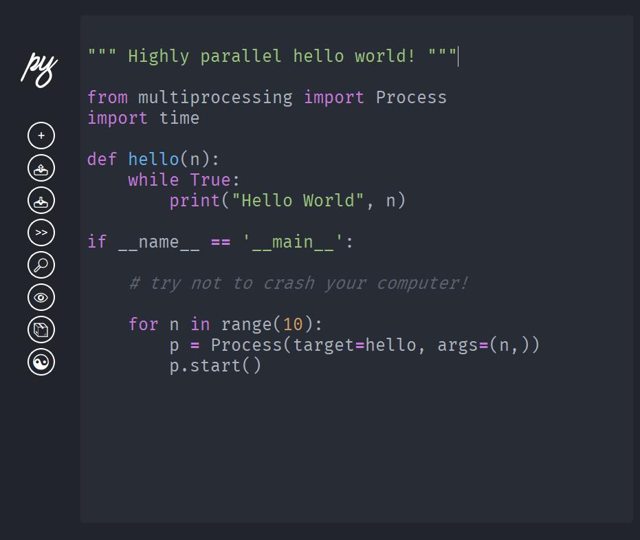 Make Python Editor - Dark