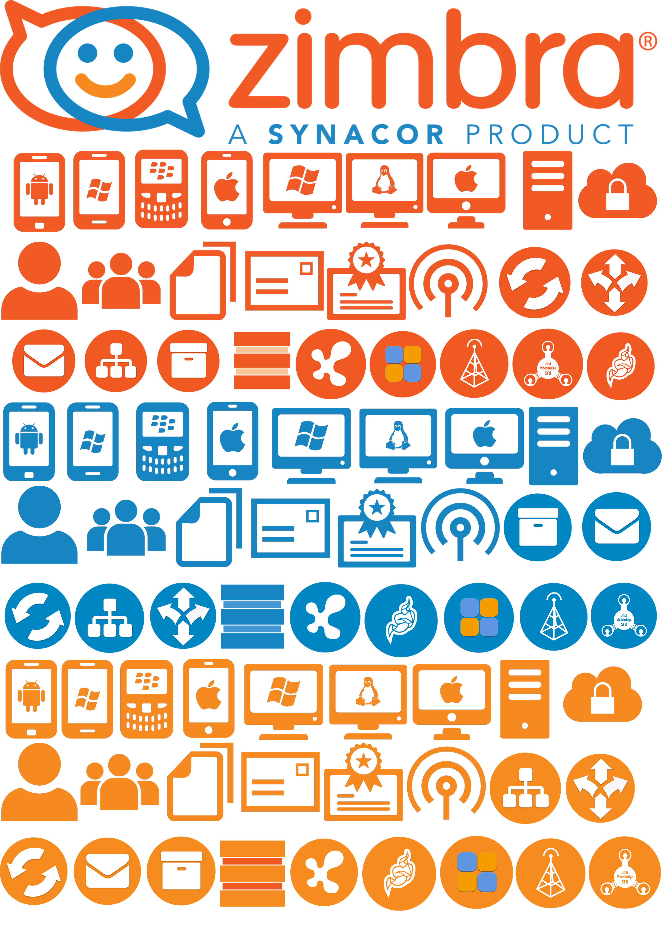 you can see here how the zimbra icons looks like - Free Visio Shapes Library