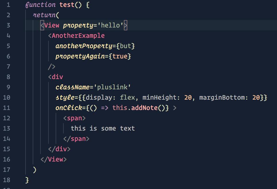 JavaScript/JSX