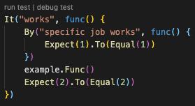 Run/Debug individual test