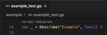 Run/Debug suite tests