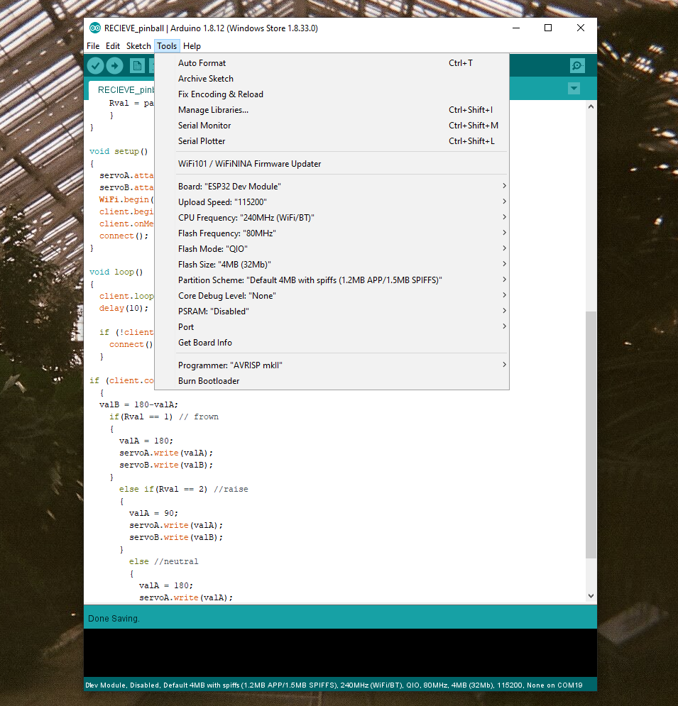 Tools settings screenshot