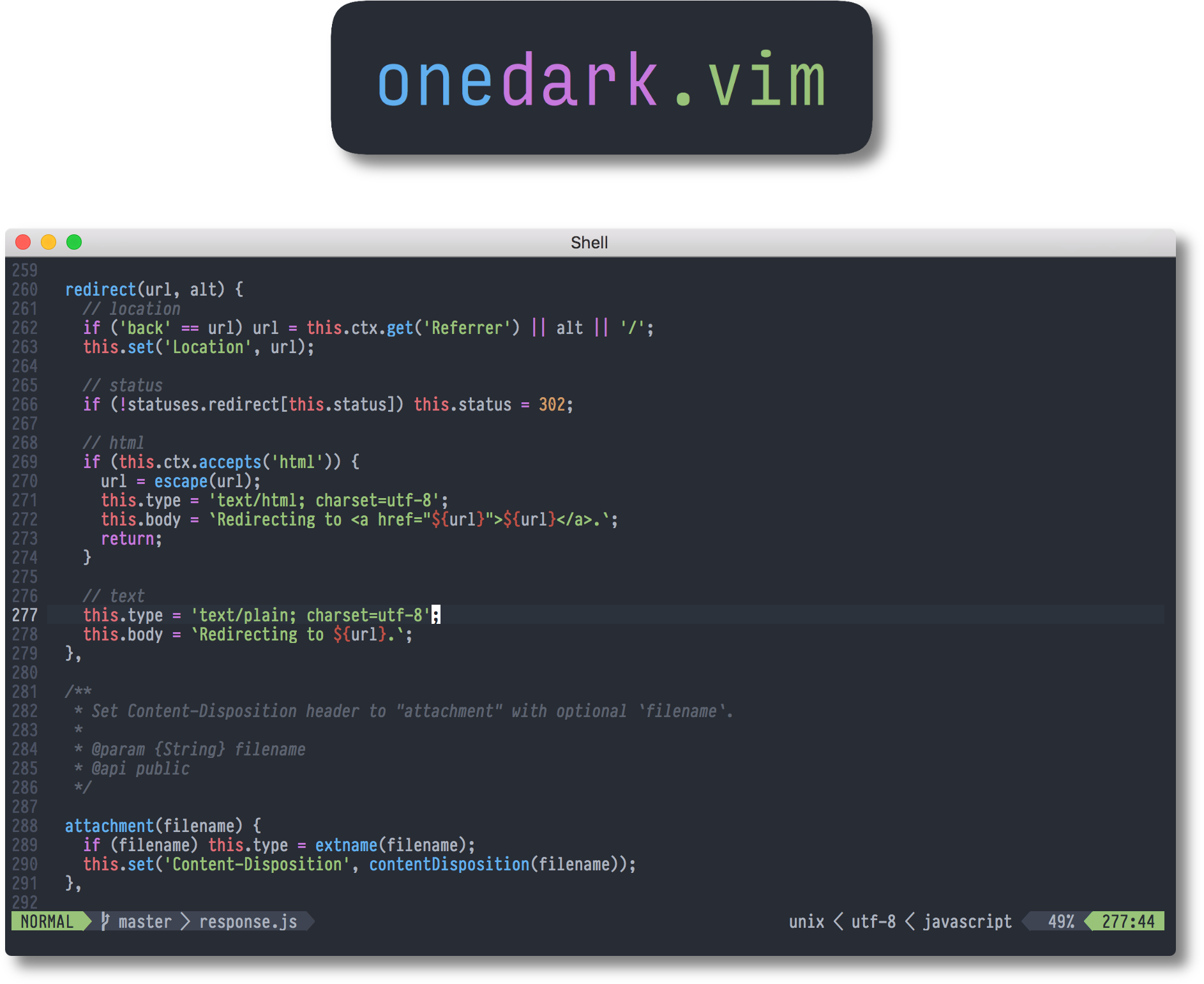 onedark vim - Vim Awesome