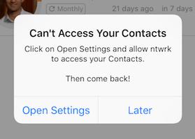 Privacy Settings Alert
