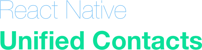 React Native Unified Contacts Logo