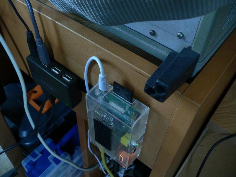 Raspberry Pi behind the analyzer