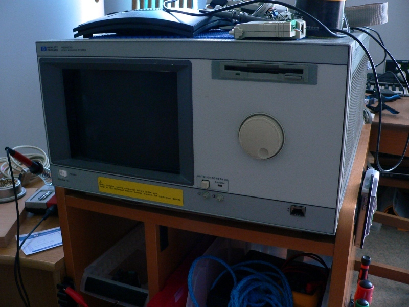The HP16500B rig
