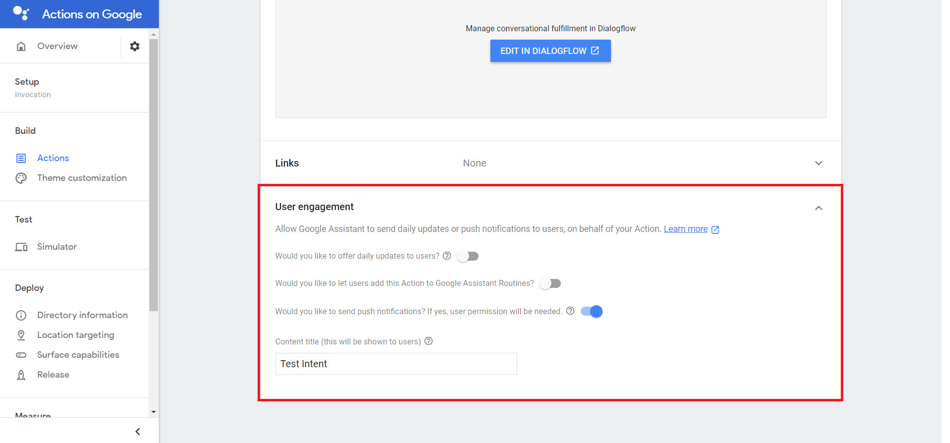 Google Action Action User Engagement
