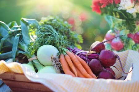 Eat healthier food, including fresh vegetables