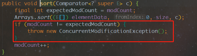 ConcurrentModificationException