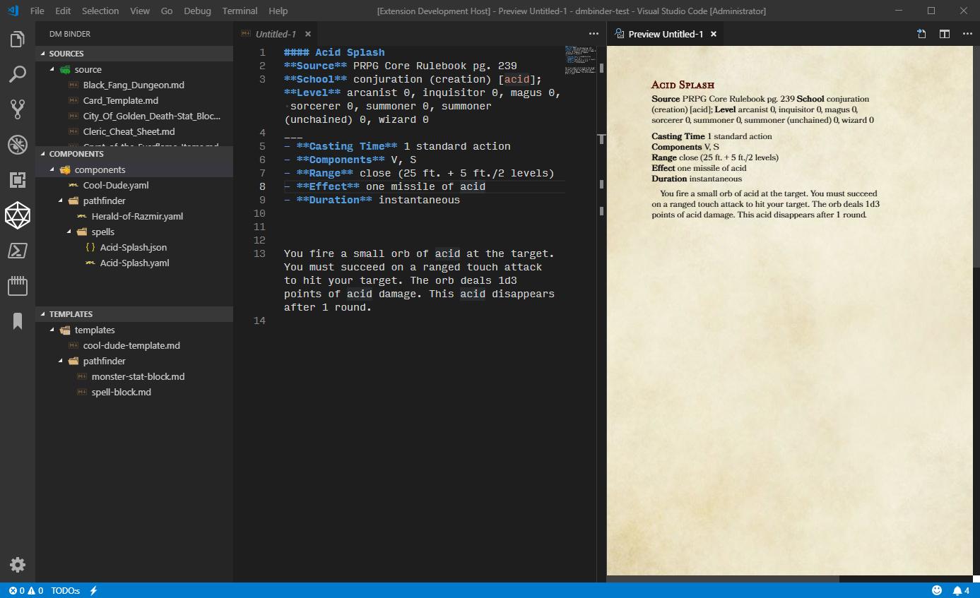 Build Component Example Screenshot