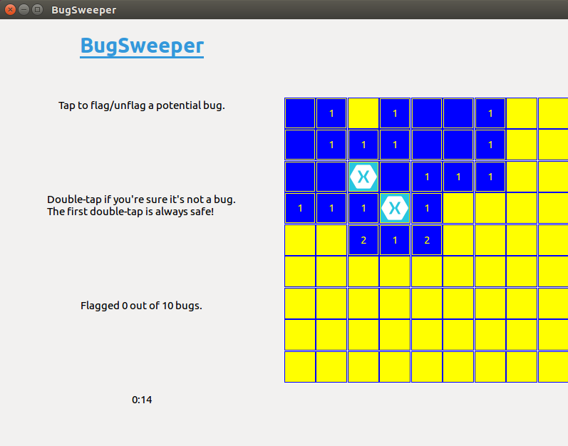 BugSweeper Sample running on Linux