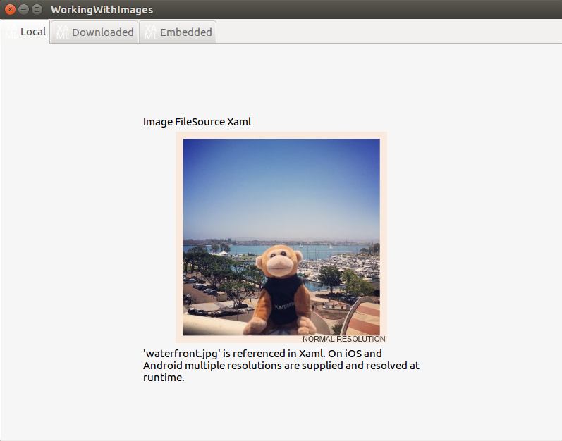 Images Sample running on Linux