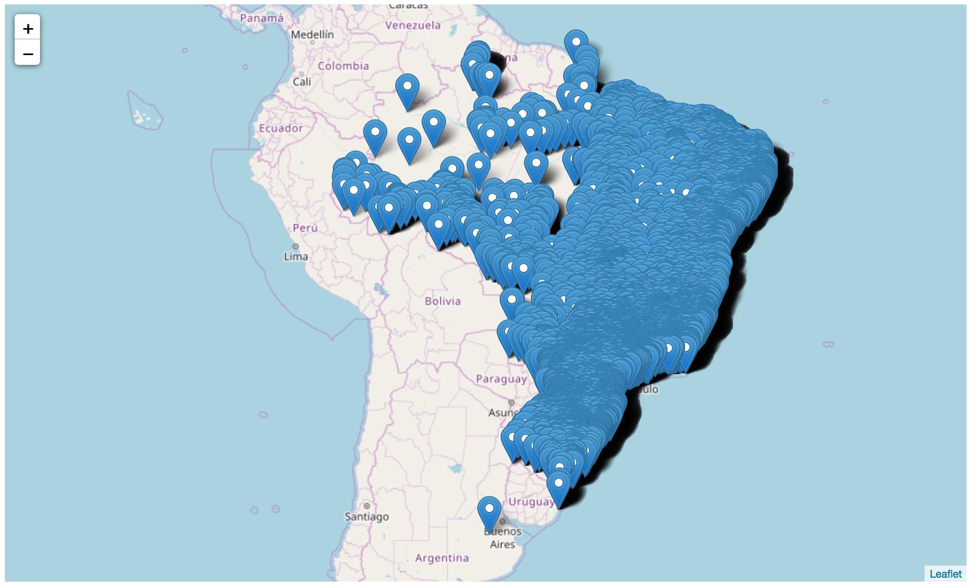 mapa do brasil com todas empresas