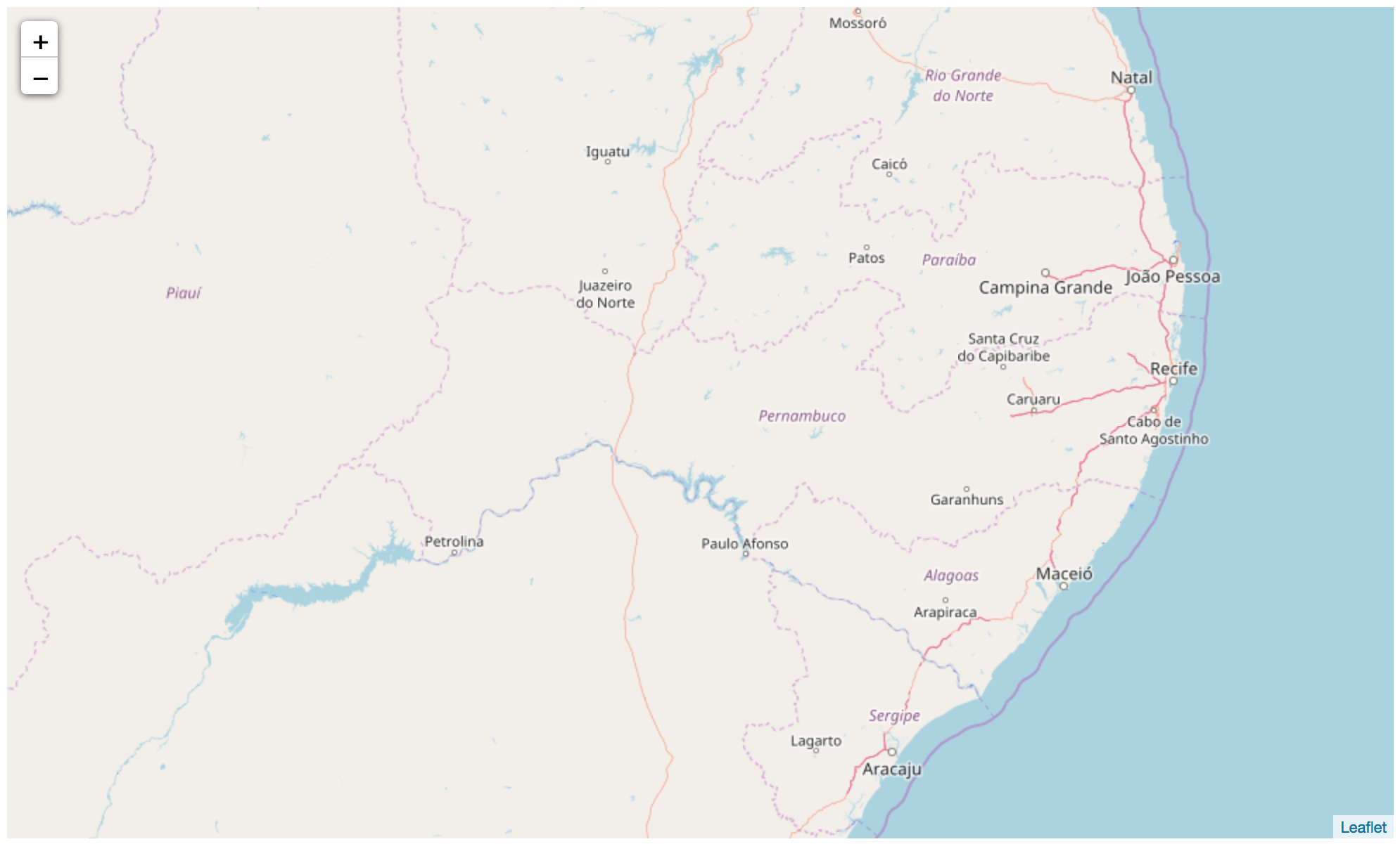 mapa de Pernambuco