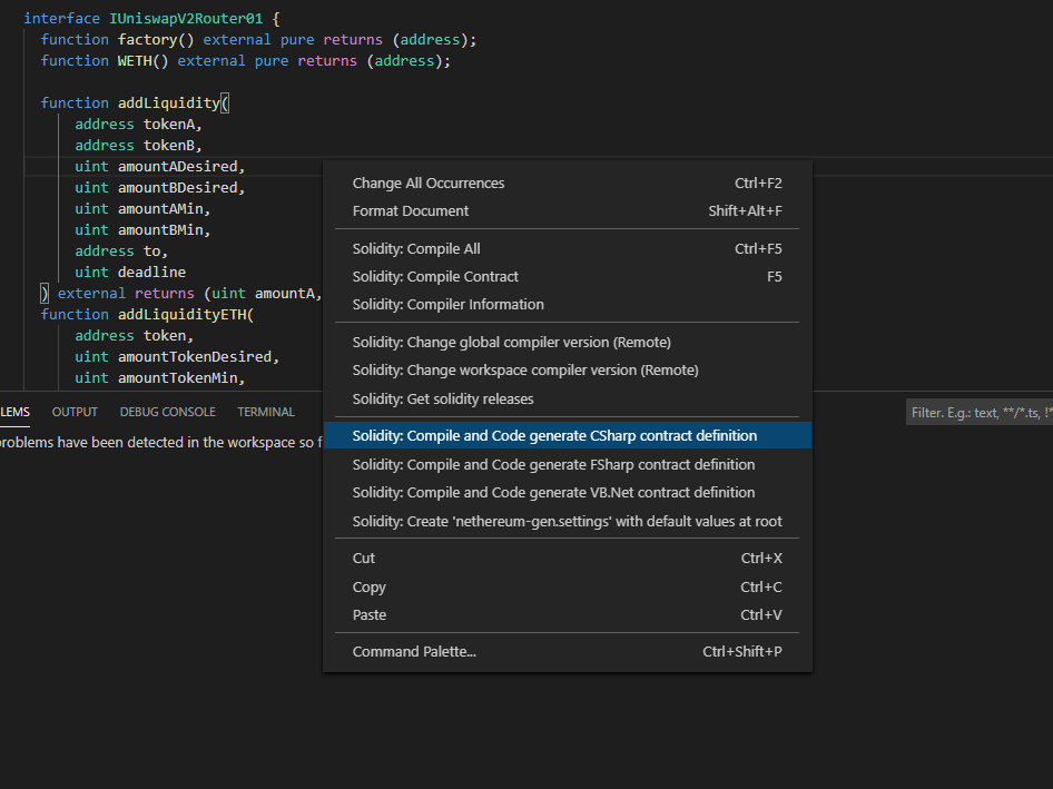 Solidity support for Visual Studio code - 对visualstudio代码的稳定性支持