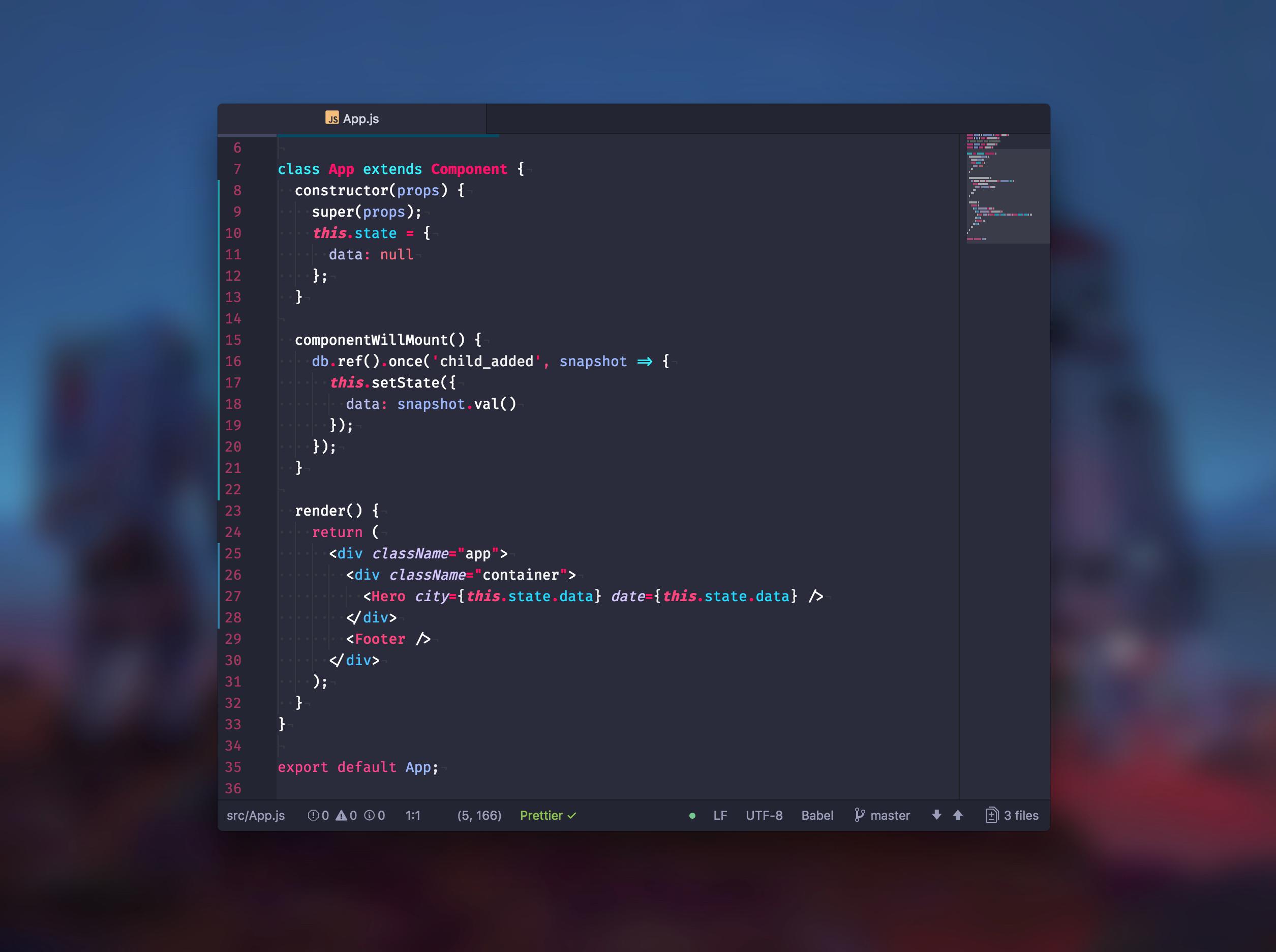Hydra-syntax screenshot