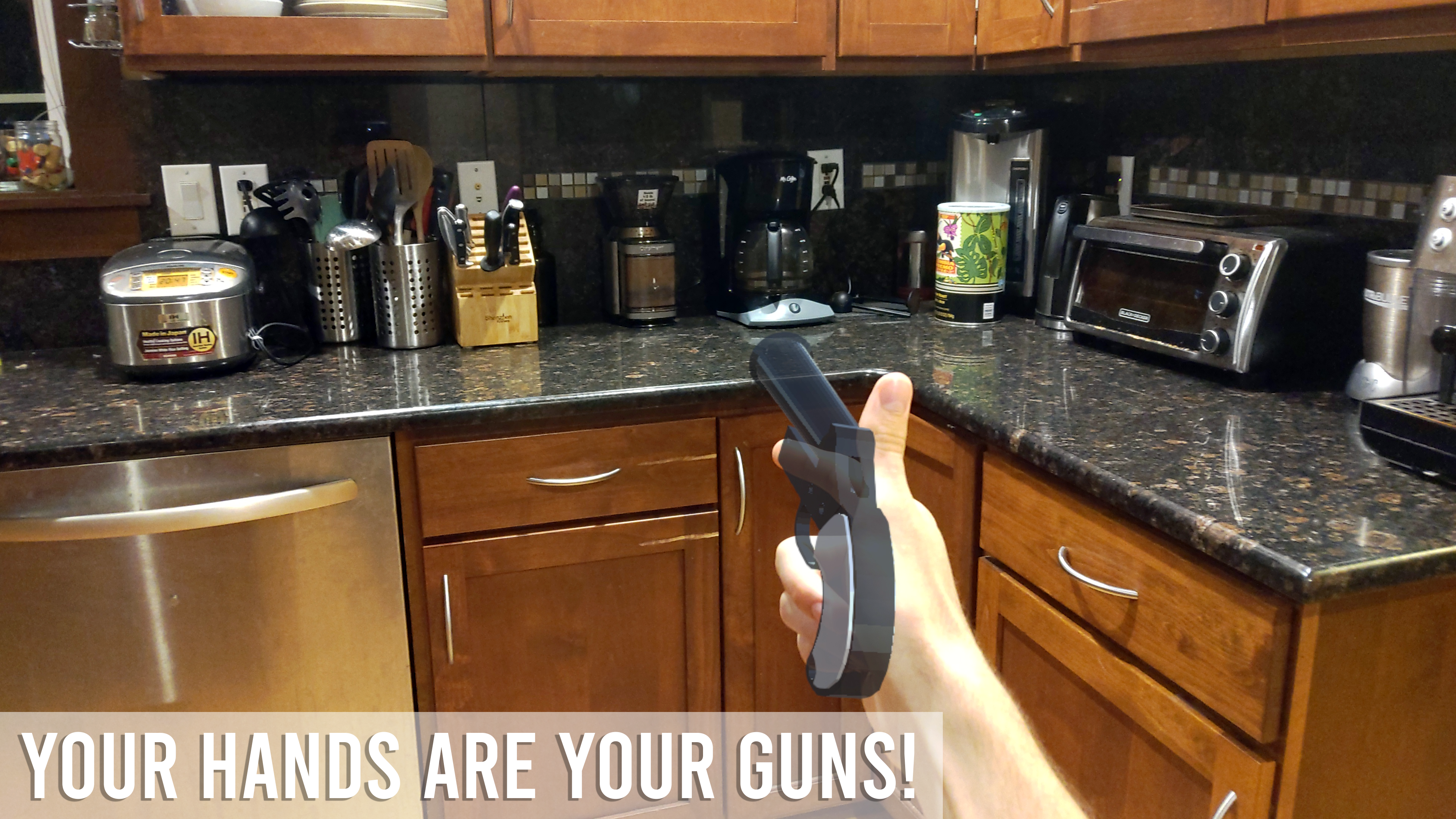 Your hands are your guns!