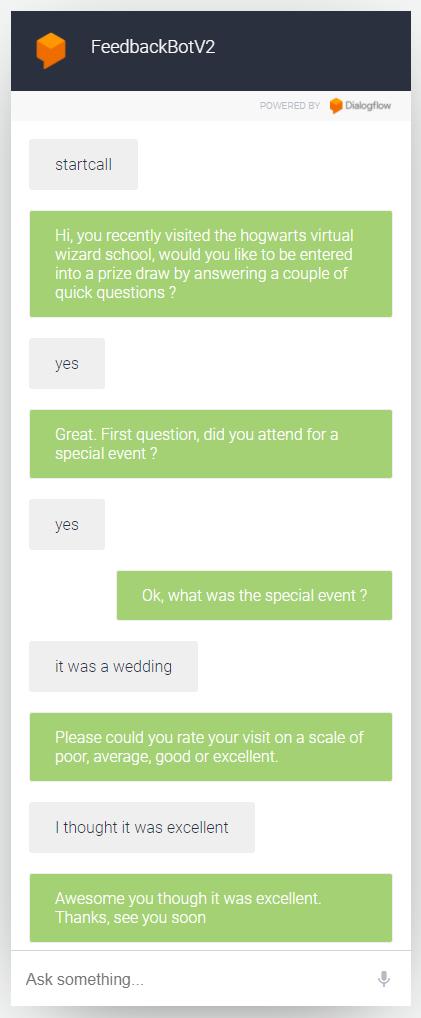 DialogFlow Conversation