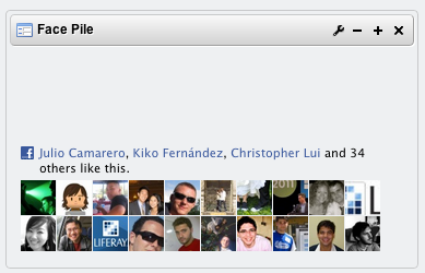 Facebook Face Pile in a Liferay portlet