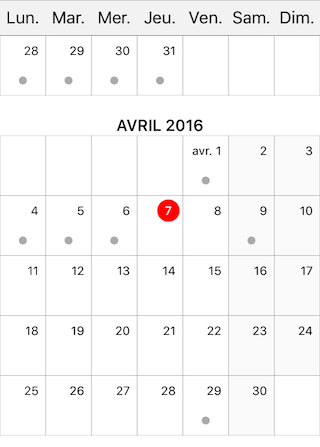 Month Planner View