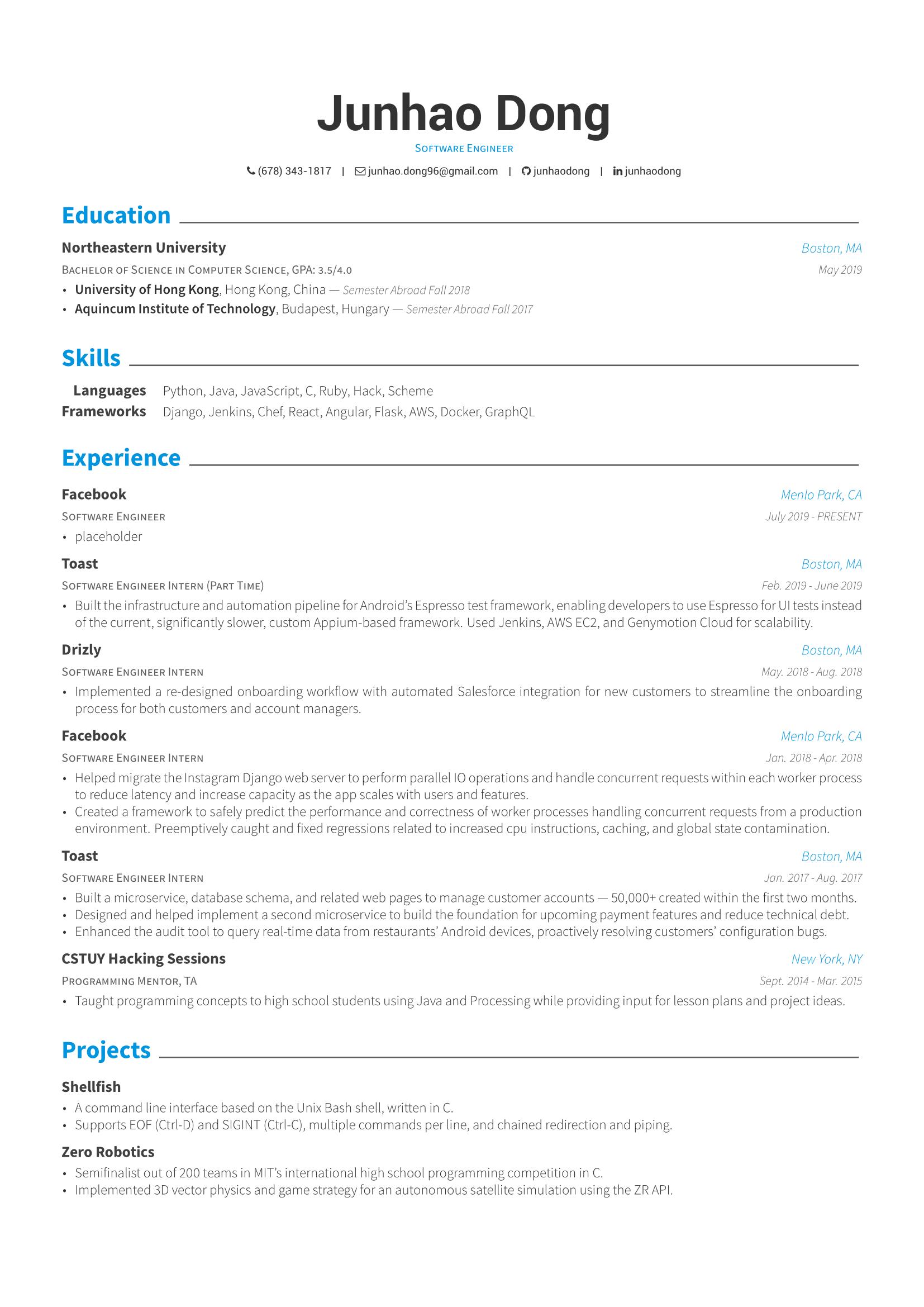 github  resume  resume in latex