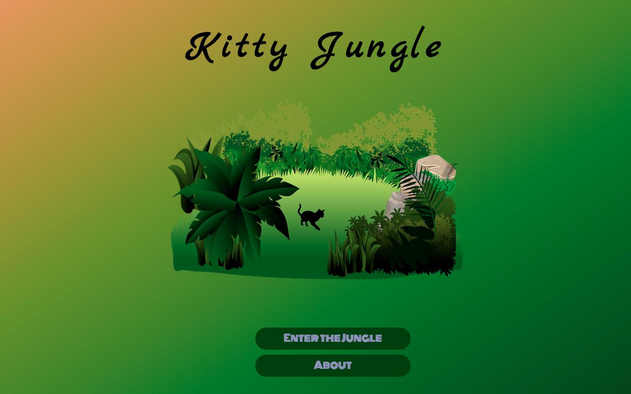 Kitty Jungle Landing Page