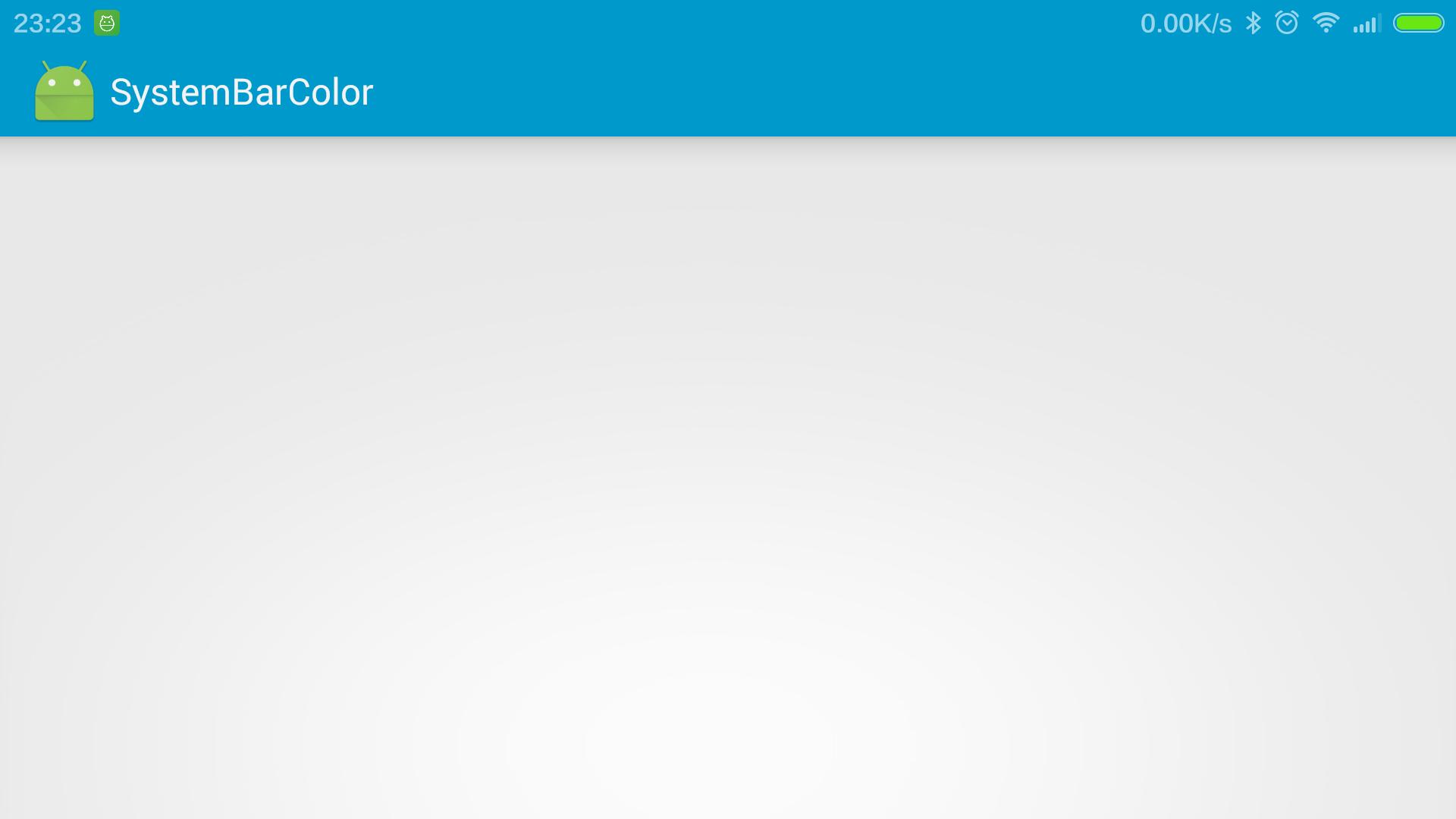 system bar color