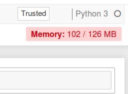Screenshot with memory warning