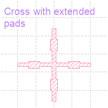 Cross with extended-pads