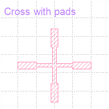 Cross with pads