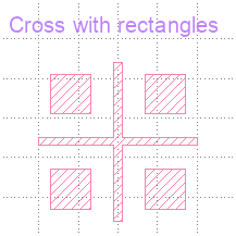 Cross with rectangles