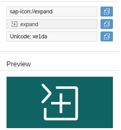 UI5 Expand icon