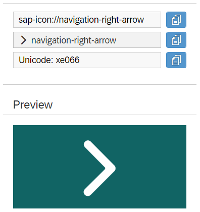 UI5 Right arrow icon