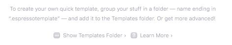 show-templates-folder