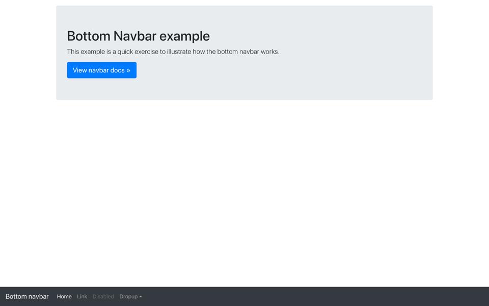 Navbar Bottom